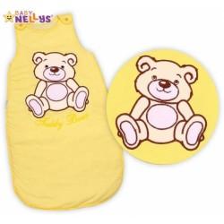 Spací vak TEDDY BEAR Baby Nellys - žlutý, krémový vel. 1