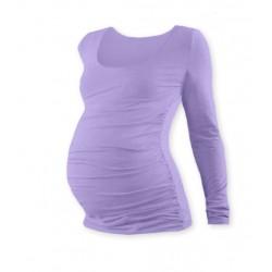 Těhotenské triko JOHANKA s dlouhým rukávem - levandule