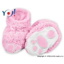 Botičky/ponožtičky YO ! MEDVÍDEK - sv. růžové