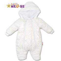 Kombinézka s kapuci LUX Baby Nellys ®prošívaná - bílá