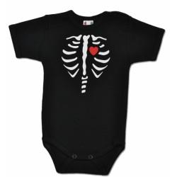 Body krátký rukáv RED HEART - černé
