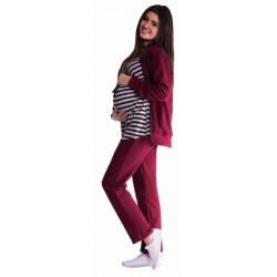 Těhotenská souprava 3 dílná - bordó