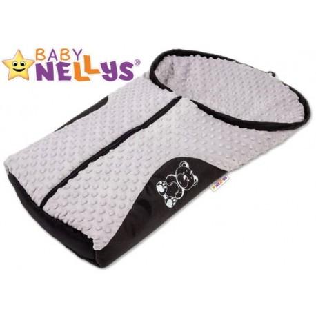 Fusák nejen do autosedačky Baby Nellys ® MINKY - šedý