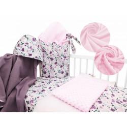 Baby Nellys 6-ti dílná výhodná sada s dárkem pro miminko, 120 x 90 cm - Luční kvítky