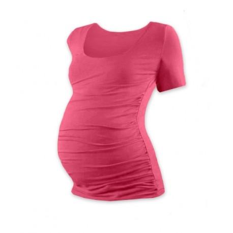 Těhotenské triko krátký rukáv JOHANKA - lososově růžová