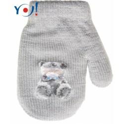Kojenecké chlapecké akrylové  rukavičky YO - sv. šedé