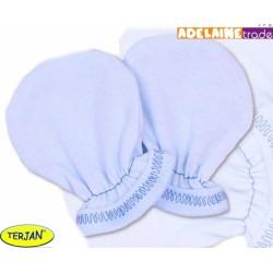 Rukavičky bavlna Terjan - modré, vel. 1