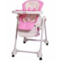 Jídelní židlička a houpačka 2v1 ZEFIR -růžova