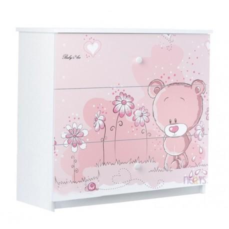 0cf303105efda Dětská komoda - Medvídek STYDLÍN růžový