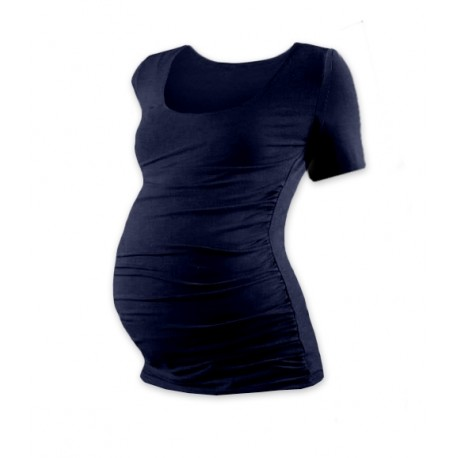 Těhotenské triko krátký rukáv JOHANKA - tmavě modrá