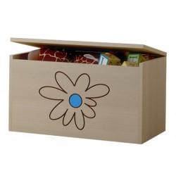 Box na hračky, truhla Květinka modrá