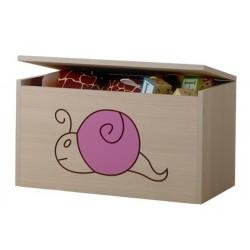 Box na hračky, truhla Šnek růžový