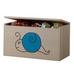 Box na hračky, truhla Šnek modrý