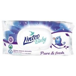 Vlhčené ubrousky LINTEO BABY Pure & fresh - 80 ks v bal.