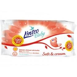 Vlhčené ubrousky LINTEO BABY Soft&cream - 120ks v bal.