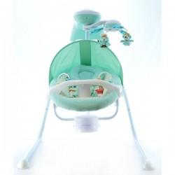 Dětská elektrická houpačka a lehátko - zelené