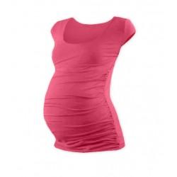 Těhotenské triko mini rukáv JOHANKA - lososově růžová