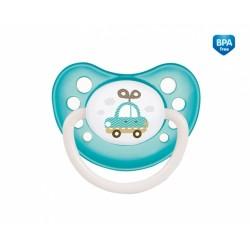 Dudlík anatomický Canpol Babies 18m+ C, Toys -  autíčko modro/zelené