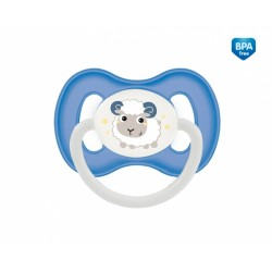 Dudlík anatomický Canpol Babies 18m+ C, Bunny&Company -  ovečka modrá