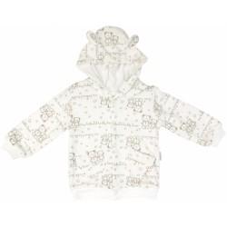 Mikinka Mamatti Baby Bear TEDDY s kapucí s oušky - dvouvrstvá