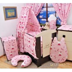 Závěsy do pokojíčku - Kočičky v růžové