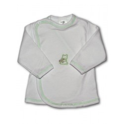 Kojenecká košilka s vyšívaným obrázkem New Baby zelená, Zelená, 56 (0-3m)