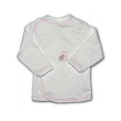 Kojenecká košilka s vyšívaným obrázkem New Baby růžová, Růžová, 56 (0-3m)