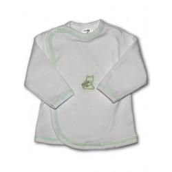 Kojenecká košilka s vyšívaným obrázkem New Baby zelená, Zelená, 62 (3-6m)