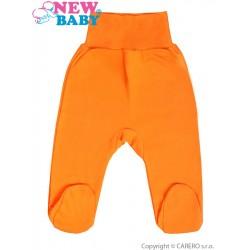Kojenecké polodupačky New Baby oranžové, Oranžová, 56 (0-3m)