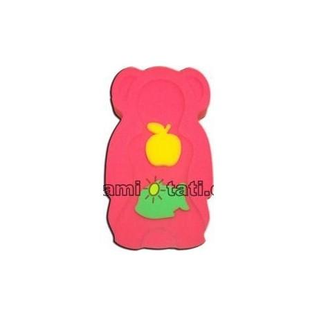 Matračka - houba ke koupání miminek MAXI - červená/růžová/oranž, fialové