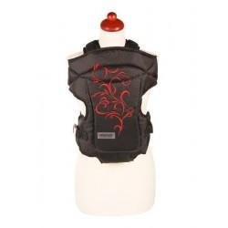 Nosítko Womar Zaffiro Butterfly černé s červenou výšivkou, Černá