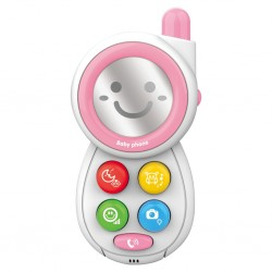 Dětský telefónek se zvuky BAYO pink, Růžová