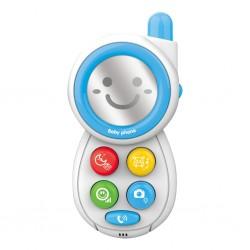 Dětský telefónek se zvuky BAYO blue, Modrá