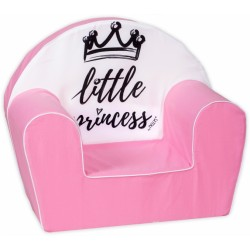 Baby Nellys Dětské křesílko LUX Little Princess, růžové