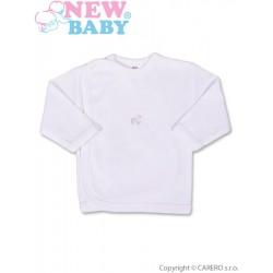 Kojenecká košilka s vyšívaným obrázkem New Baby bílá, Bílá, 50