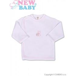 Kojenecká košilka s vyšívaným obrázkem New Baby růžová, Růžová, 50