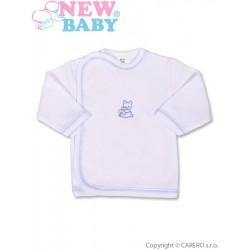 Kojenecká košilka s vyšívaným obrázkem New Baby modrá, Modrá, 50