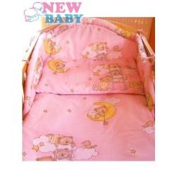 6-dílné ložní povlečení 100/135 cm New Baby růžové