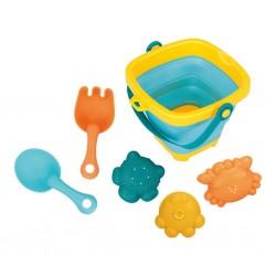 Skládací kyblík a hračky do vody 5ks BAYO, Dle obrázku