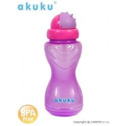 Sportovní láhev s brčkem Akuku růžová