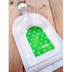 Domky Klasická plnitelná kapsička, 140 ml - puntíky v zelené