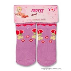 Froté ponožky fialové různé obrázky, Fialová, 68 (4-6m)