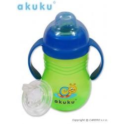 Hrníček se silikonovým náustkem Akuku - zelený