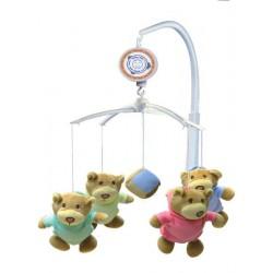 Kolotoč nad postýlku Baby Mix Medvídci