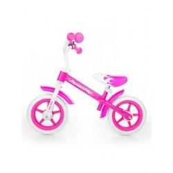 Dětské odrážedlo kolo Milly Mally Dragon s brzdou pink, Růžová
