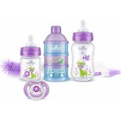 Bayby, Dárková sada pro novorozence 6v1 -  6m+, fialová