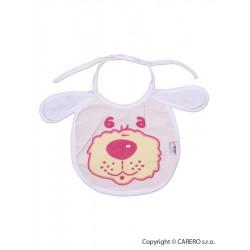 Dětský bryndák New Baby bílo-růžový, Bílá