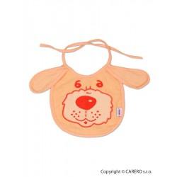 Dětský bryndák New Baby oranžový, Oranžová