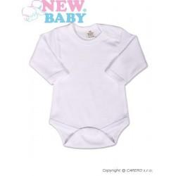 Body dlouhý rukáv New Baby - bílé, Bílá, 50