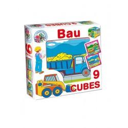 Skládací obrázkové kostky Bau